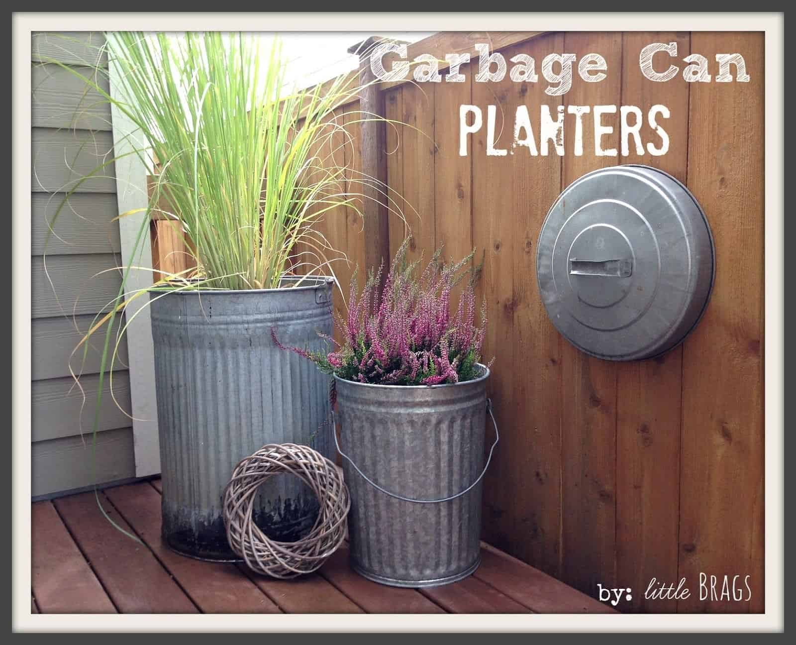 Trash can planters