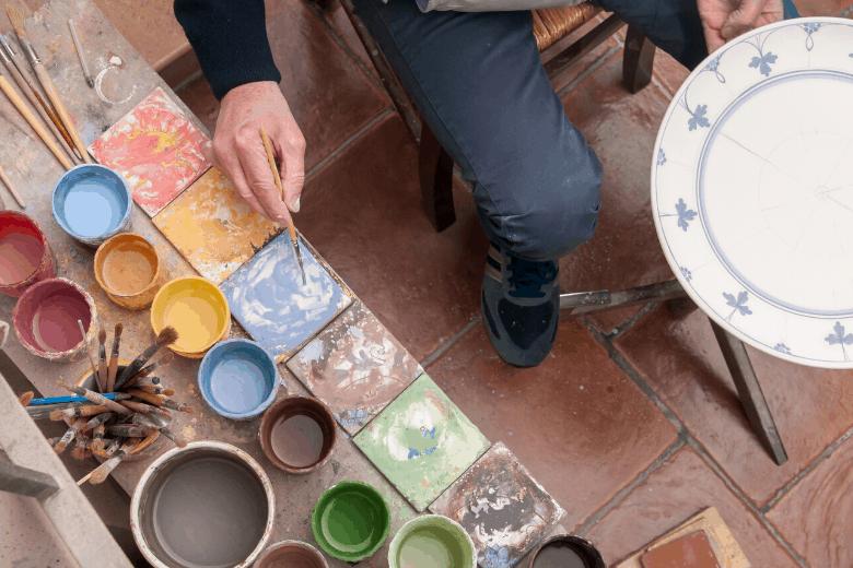 pottery studio glaze