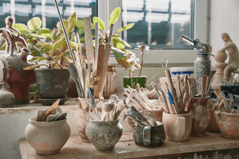pottery studio tools