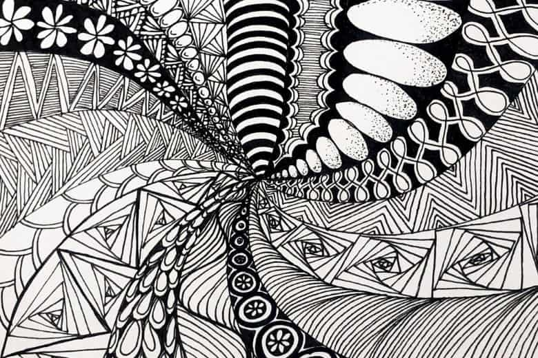 Example of a zentangle
