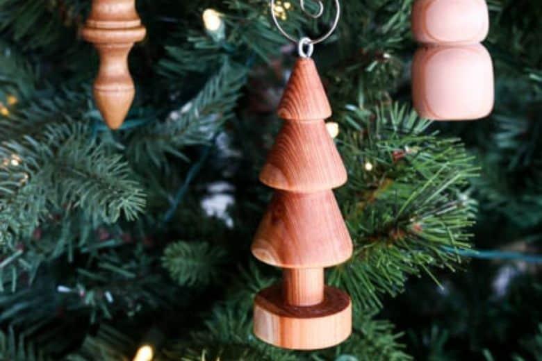 Wooden Xmas Tree Ornaments