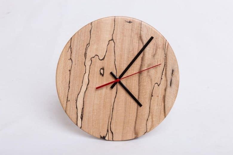 Woodturned Clock