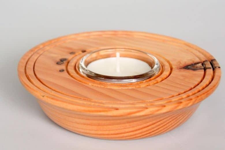 Woodturned Tea-Light Holders